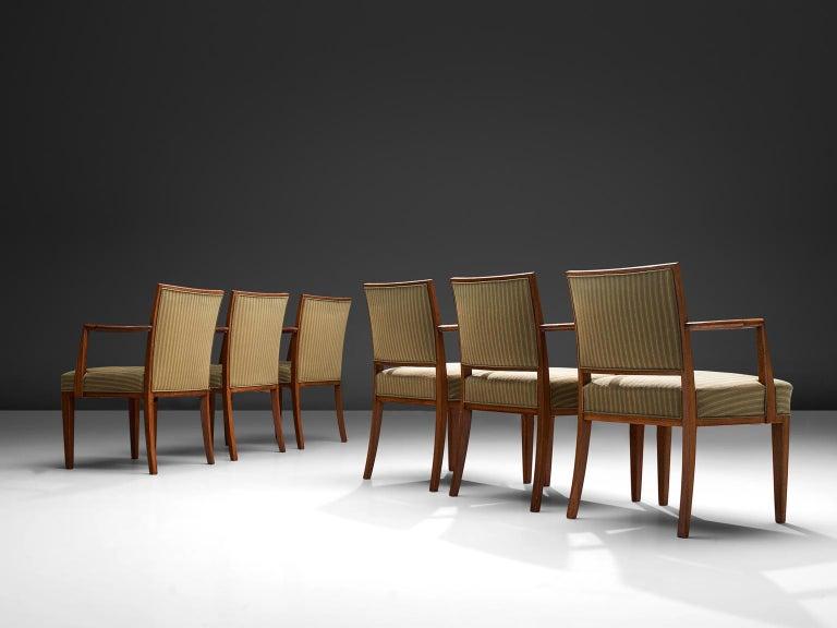 Scandinavian Modern Swedish Set of Six Armchairs in Teak, 1940s For Sale