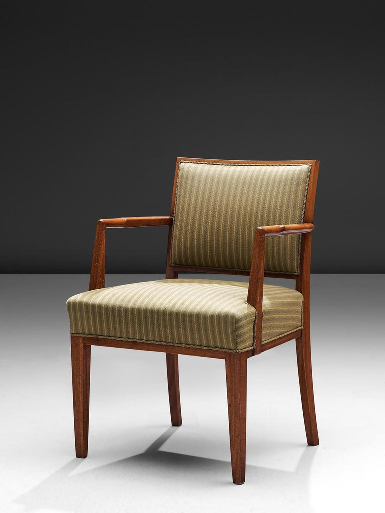 Mid-20th Century Swedish Set of Six Armchairs in Teak, 1940s For Sale