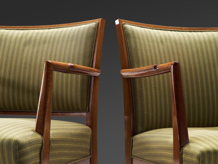 Swedish Set of Six Armchairs in Teak, 1940s For Sale 3