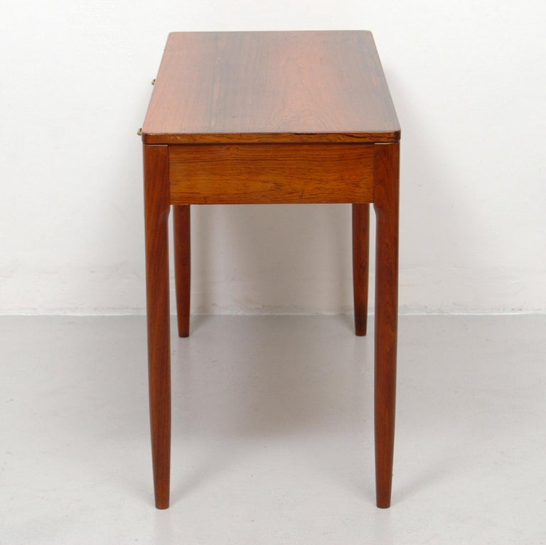 Scandinavian Modern Swedish Side Cabinet in Rosewood and Brass, 1960s For Sale