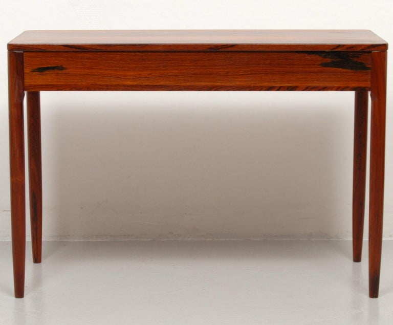 20th Century Swedish Side Cabinet in Rosewood and Brass, 1960s For Sale