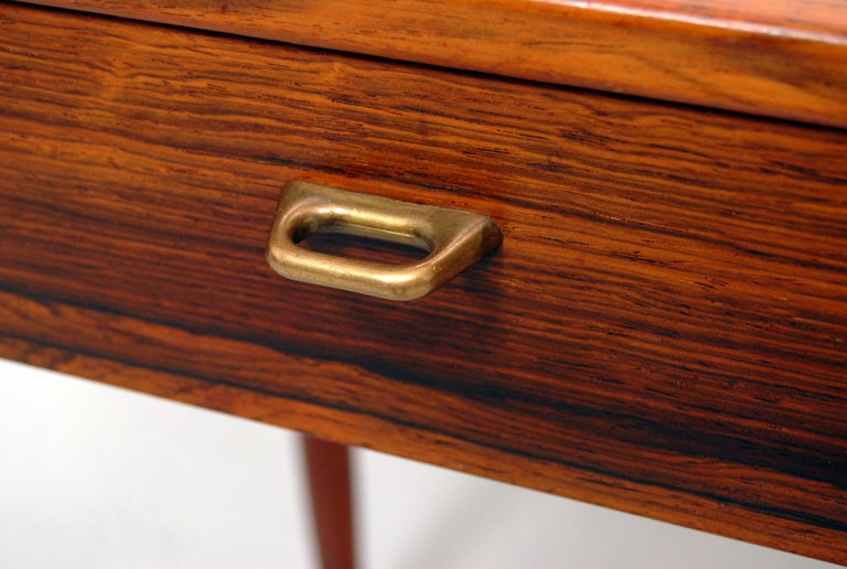 Swedish Side Cabinet in Rosewood and Brass, 1960s For Sale 2
