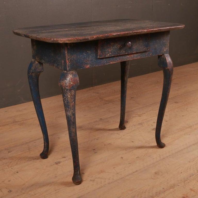 Gustavian Swedish Side Table For Sale