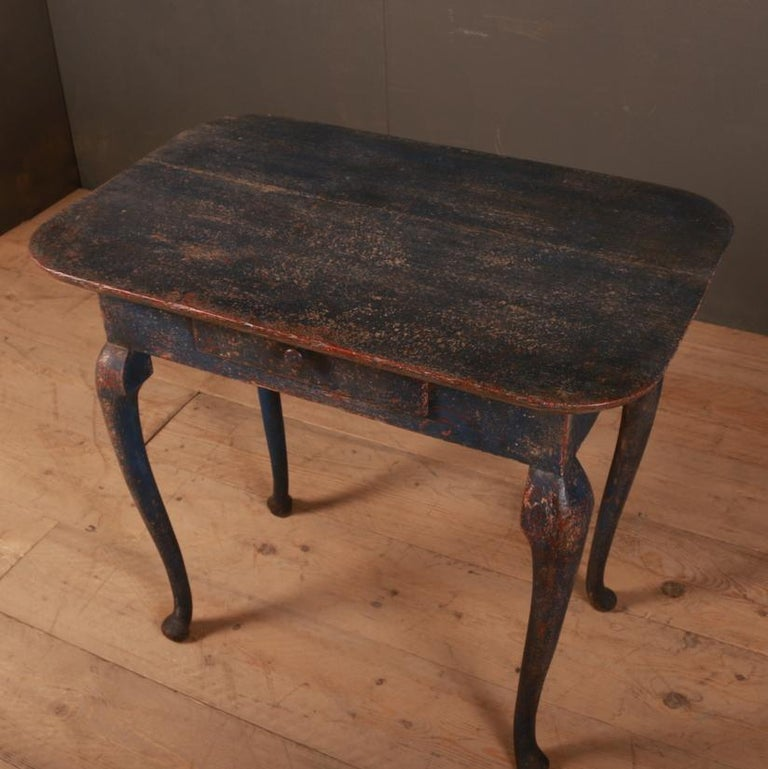 Painted Swedish Side Table For Sale