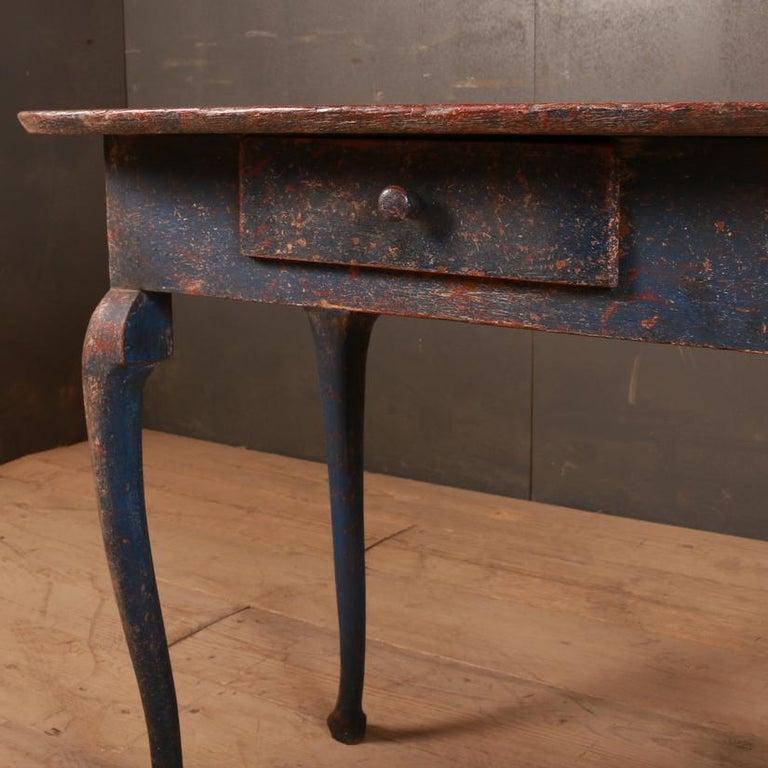 Oak Swedish Side Table For Sale