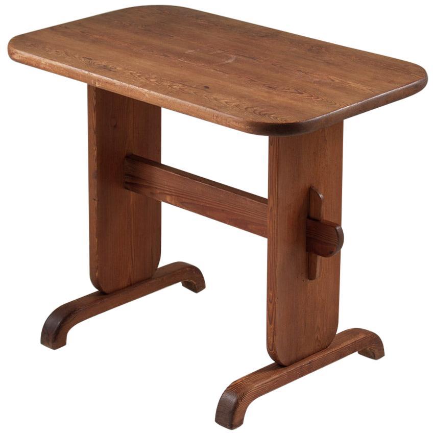 Swedish Side Table in Pine by Bo Fjæstad, 1930s