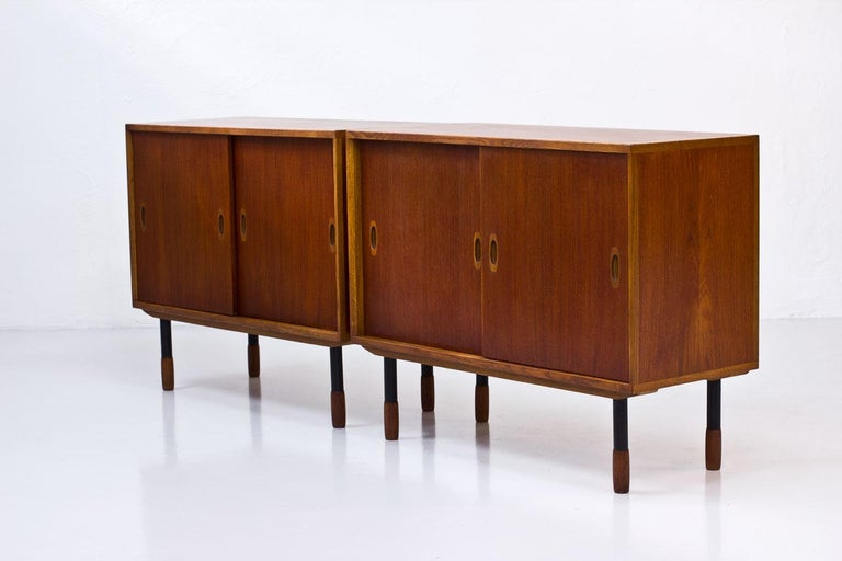 Swedish Sideboards by Westbergs Möblers, 1950s, Set of 2 In Good Condition For Sale In Stockholm, SE