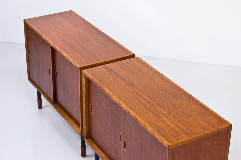 20th Century Swedish Sideboards by Westbergs Möblers, 1950s, Set of 2 For Sale