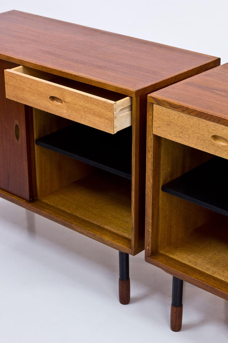Swedish Sideboards by Westbergs Möblers, 1950s, Set of 2 For Sale 1
