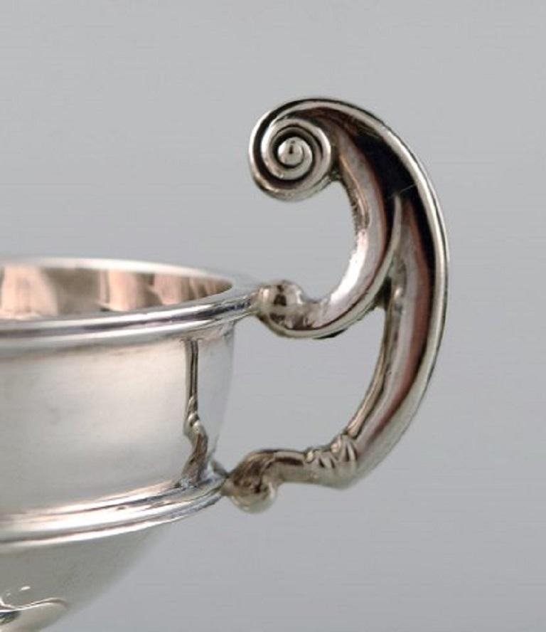 Swedish Birmingham, England, Silver Salt Cellar, Neoclassical Style, Dated 1902/03 For Sale