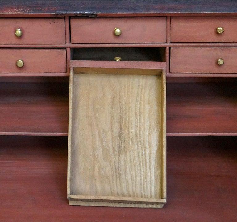 Hand-Carved Swedish Slant-Front Writing Desk For Sale