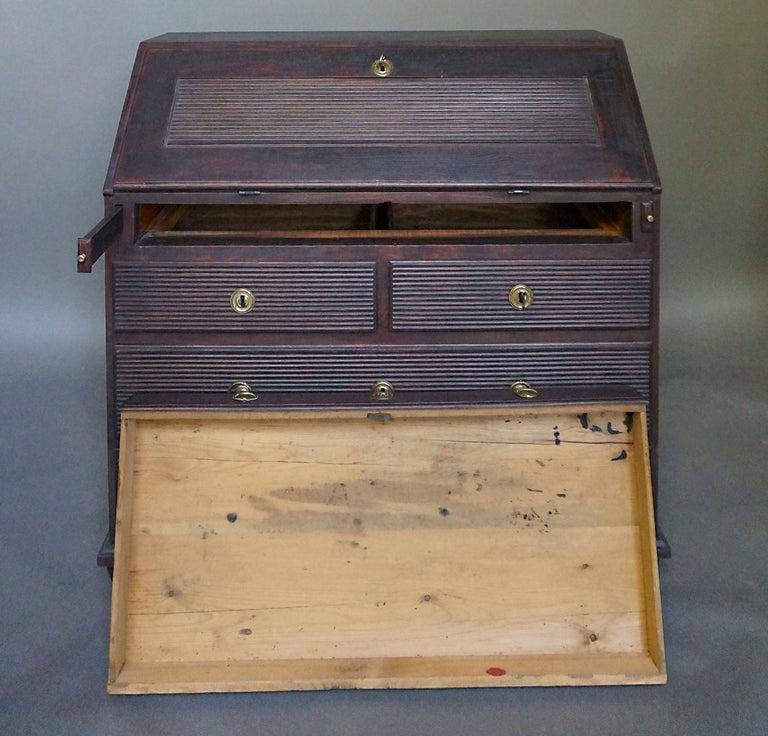 19th Century Swedish Slant-Front Writing Desk For Sale