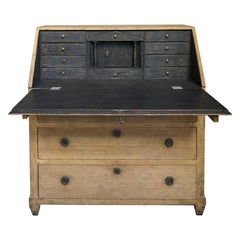 Swedish Slant Front Writing Desk in Original Paint