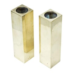 Swedish Solid Brass Vases, 1970s