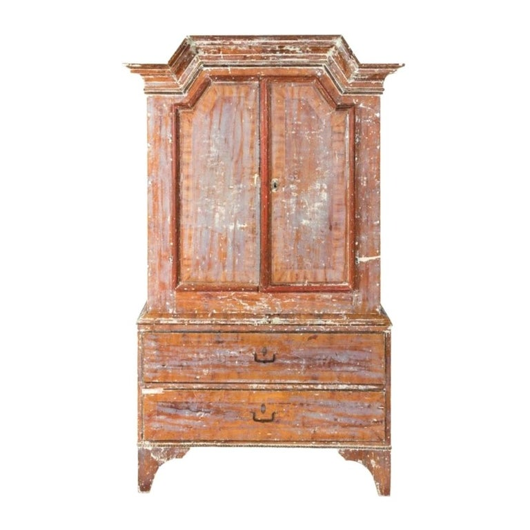 Swedish Sponge Painted Cupboard, circa 1760 For Sale