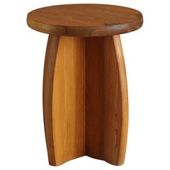 Swedish Sportstuge School, Minimalist Stool or Side Table, Pine, 1970s