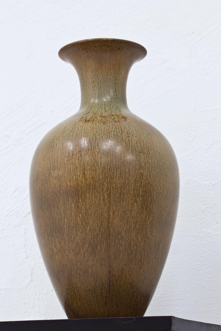 Swedish Stoneware Floor Vase by Gunnar Nylund In Good Condition For Sale In Stockholm, SE