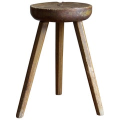Swedish, Stool, Stained Solid Wood, Sweden, 1940s