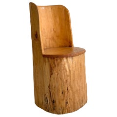 Swedish Stump Brutalist Chair in Pine, 1960s