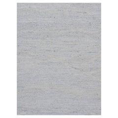Swedish Style Kilim Deco Rug Ivory Gray Blue  10'1 x 13'6