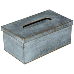 Swedish Style Metal Gilt Edge Tissue Box