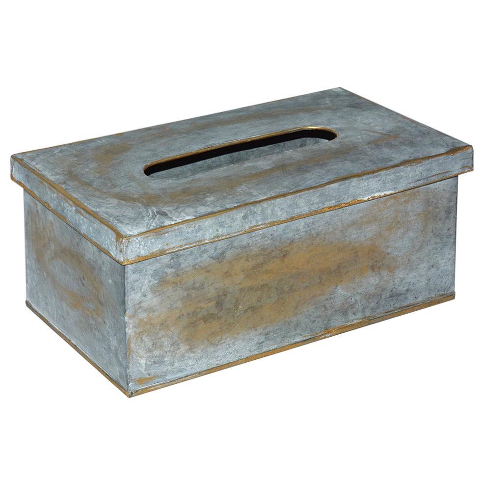 Swedish Style Metal Gilt Edge Tissue Box