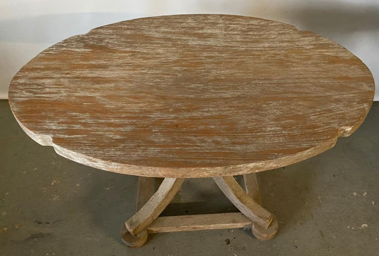 Swedish style rustic country teak table can be used indoors or outdoors. Great as a coffee table or end table on the porch, patio, in formal or casual setting. Marked Munder Old Chatham New York.
