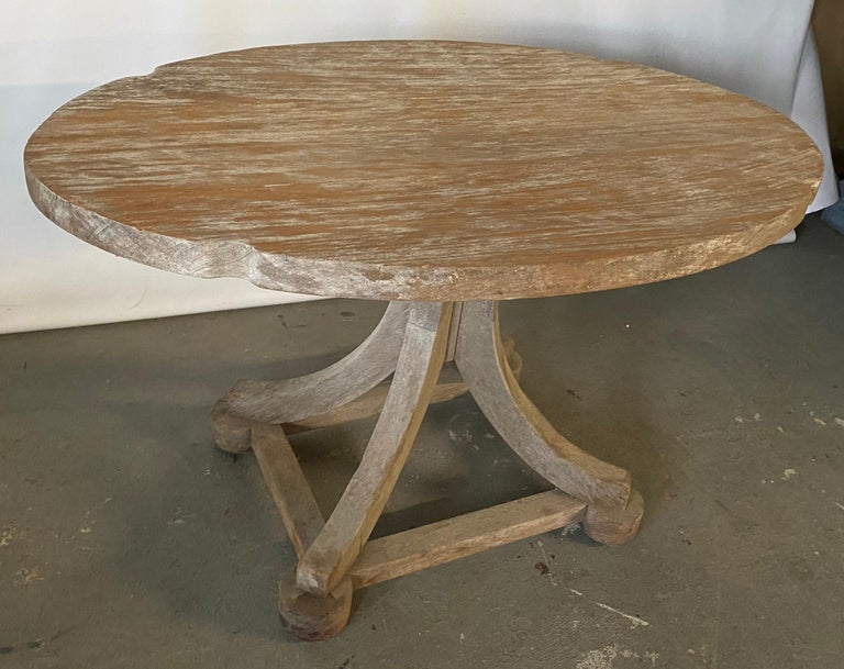 American Swedish Style Oval Teak Side Table or Coffee Table For Sale