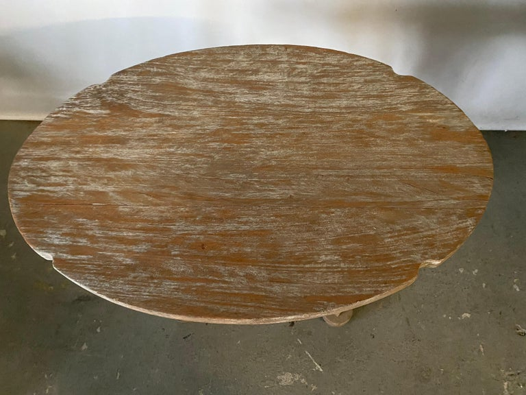 Swedish Style Oval Teak Side Table or Coffee Table In Good Condition For Sale In Great Barrington, MA