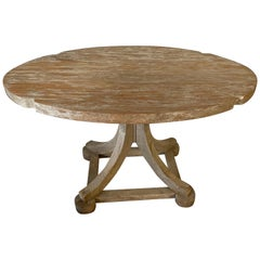 Swedish Style Oval Teak Side Table or Coffee Table