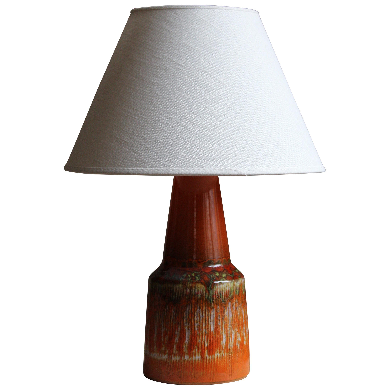 Swedish, Table Lamp, Glazed Stoneware, Sweden, circa 1950s