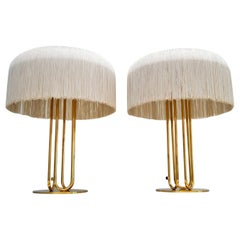 Swedish Table Lamps by Hans-Agne Jakobsson in Brass with Silk Fringe, 1950s