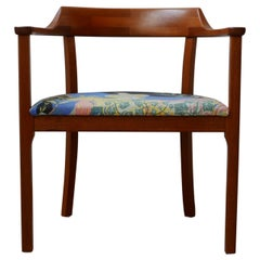 Swedish Teak Mid-Century Armchair with Josef Frank 'Anakreon' Upholstery