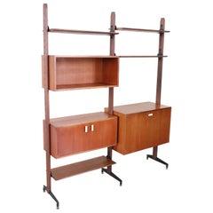 Swedish Teak Modular Bookcase, 1960s
