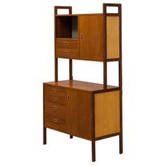 Swedish Teak + Oak Two Tier Bookcase