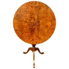 Swedish Tilt Top Table In Birchwood Root Veneer