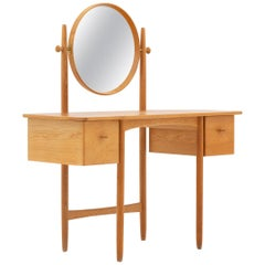 Swedish Vanity Table in Oak by Sven Engström & Gunnar Myrstrand