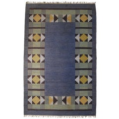 Swedish Vintage Flat-Weave Rölakan Carpet by Kerstin Persson