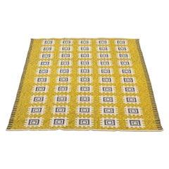 Swedish Vintage Flat-Weave Rölakan Rug