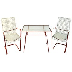 Swedish Vintage Garden Set of Grythyttan Table and Lounge Chairs, 1950s