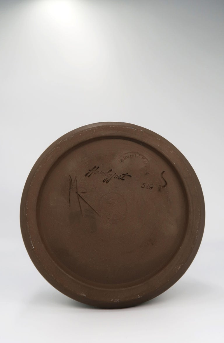 Mid-20th Century Swedish Vintage Handmade Raw, Black, Sand Vase/Candlestick by Alingsås, 1960s For Sale