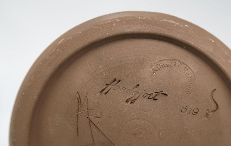 Ceramic Swedish Vintage Handmade Raw, Black, Sand Vase/Candlestick by Alingsås, 1960s For Sale