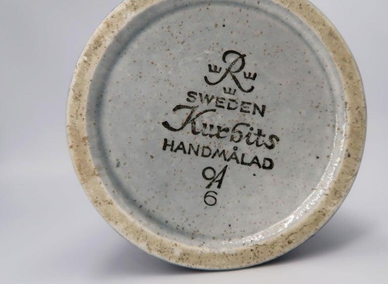 Swedish Vintage Rörstrand Ceramic Blue, Grey Vase by Olle Alberius, 1960s For Sale 4