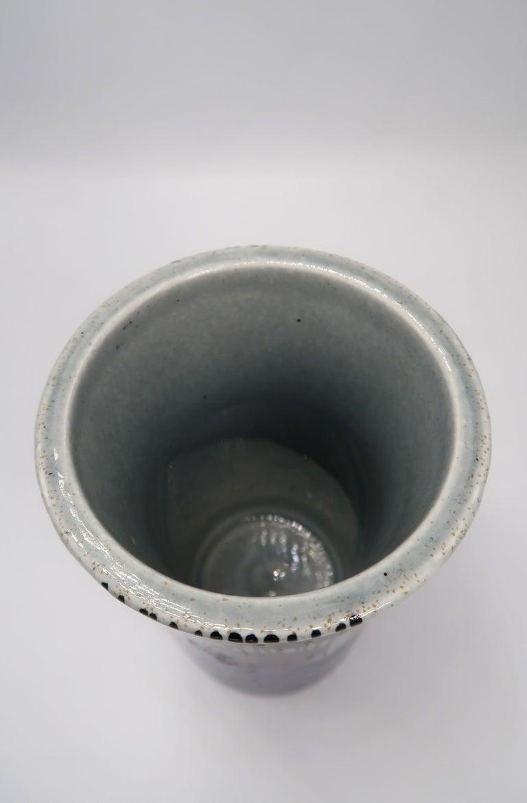 Swedish Vintage Rörstrand Ceramic Blue, Grey Vase by Olle Alberius, 1960s For Sale 2