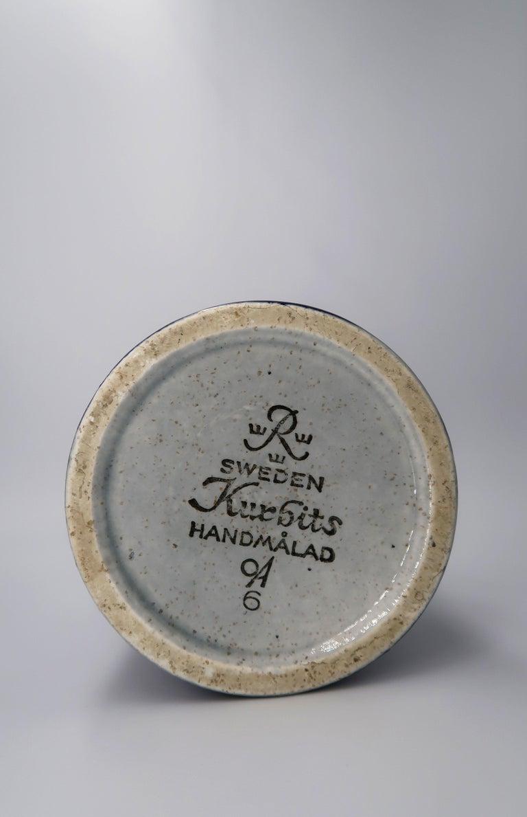 Swedish Vintage Rörstrand Ceramic Blue, Grey Vase by Olle Alberius, 1960s For Sale 3