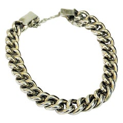 Swedish Vintage Silver Chain Bracelet, 1970s