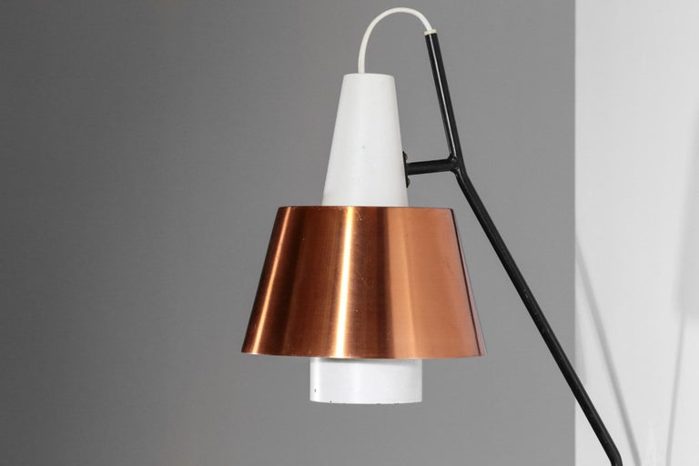 Scandinavian Modern Swedish Wall Light for Luco Vintage Copper For Sale