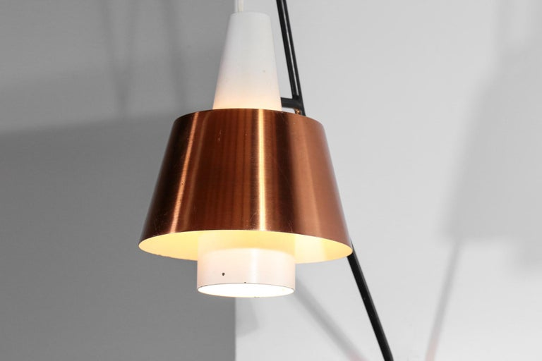 Swedish Wall Light for Luco Vintage Copper For Sale 1