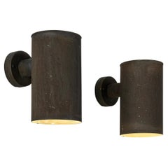 Swedish Wall Lights in Patinated Copper
