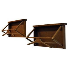 Swedish Wall Mounted Dark Wood Valet by Per Granebo AB 1970s, Pieces